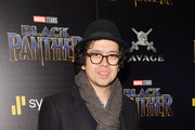 "Actor Geoffrey Arend attends the screening of Marvel Studios' ""Black Panther"" hosted by The Cinema Society on February 13, 2018 in New York City."