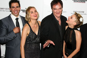 "(L-R) Actor Eli Roth, actress Diane Kruger, writer/director Quentin Tarantino and actress Melanie Laurent attend the Cinema Society and Hugo Boss screening of ""Inglourious Basterds"" at the SVA Theater on August 17, 2009 in New York City."