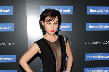 """Allison Scagliotti The Cinema Society Screening Of """"The Social Network"""" - Inside Arrivals"""