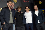 "(L-R) Actors Adam Rodriguez, Matt Bomer, Joe Manganiello, Kevin Nash and Channing Tatum attend Warner Bros. Pictures Invites You to ""The Big Picture"", an Exclusive Presentation Highlighting the Summer of 2015 and Beyond at The Colosseum at Caesars Palace during CinemaCon, the official convention of the National Association of Theatre Owners, on April 21, 2015 in Las Vegas, Nevada."