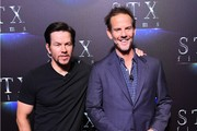 "Actor Mark Wahlberg and director Peter Berg attend STXfilms' ""The State of the Industry: Past, Present & Future"" presentation during CinemaCon at Caesars Palace on March 28, 2017 in Las Vegas, Nevada. / AFP PHOTO / ANGELA WEISS"