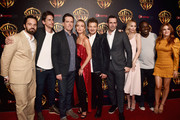 "(L-R) Actor Jake Johnson, Director Jeff Tomsic, actor Ed Helms, Annabelle Wallis, Jeremy Renner, Jon Hamm, Annabelle Wallis, Hannibal Buress and Isla Fisher attend CinemaCon 2018 Warner Bros. Pictures Invites You to ""The Big Picture"", an Exclusive Presentation of our Upcoming Slate at The Colosseum at Caesars Palace during CinemaCon, the official convention of the National Association of Theatre Owners, on April 24, 2018 in Las Vegas, Nevada."