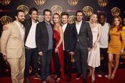 (L-R) Actor Jake Johnson, Director Jeff Tomsic, actor Ed Helms, Annabelle Wallis, Jeremy Renner, Jon Hamm, Annabelle Wallis, Hannibal Buress and Isla Fisher attend CinemaCon 2018 Warner Bros. Pictures Invites You to ?The Big Picture?, an Exclusive Presentation of our Upcoming Slate at The Colosseum at Caesars Palace during CinemaCon, the official convention of the National Association of Theatre Owners, on April 24, 2018 in Las Vegas, Nevada.