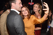 "(L-R) Actors Jon Hamm, Isla Fisher and Annabelle Wallis attend CinemaCon 2018 Warner Bros. Pictures Invites You to ""The Big Picture"", an Exclusive Presentation of our Upcoming Slate at The Colosseum at Caesars Palace during CinemaCon, the official convention of the National Association of Theatre Owners, on April 24, 2018 in Las Vegas, Nevada."