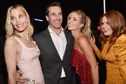 "(L-R) Actors Leslie Bibb, Jon Hamm, Annabelle Wallis and Isla Fisher attend CinemaCon 2018 Warner Bros. Pictures Invites You to ""The Big Picture"", an Exclusive Presentation of our Upcoming Slate at The Colosseum at Caesars Palace during CinemaCon, the official convention of the National Association of Theatre Owners, on April 24, 2018 in Las Vegas, Nevada."