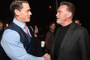 John Cena and Arnold Schwarzenegger Photos - 1 of 5 Photo