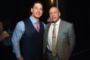 (L-R) John Cena and Paramount Pictures President of Domestic Distribution Kyle Davies attend CinemaCon 2019- Paramount Pictures Invites You to an Exclusive Presentation Highlighting Its Upcoming Slate at The Colosseum at Caesars Palace during CinemaCon, the official convention of the National Association of Theatre Owners, on April 4, 2019 in Las Vegas, Nevada.