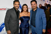 (L-R) Eugenio Derbez,  Eva Longoria and Michael Pena at CinemaCon 2019- Paramount Pictures Invites You to an Exclusive Presentation Highlighting Its Upcoming Slate at The Colosseum at Caesars Palace during CinemaCon, the official convention of the National Association of Theatre Owners, on April 4, 2019 in Las Vegas, Nevada.