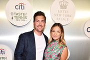 Landon Beard and actress Vanessa Ray attend the Citi Taste Of Tennis gala on August 23, 2018 in New York City.