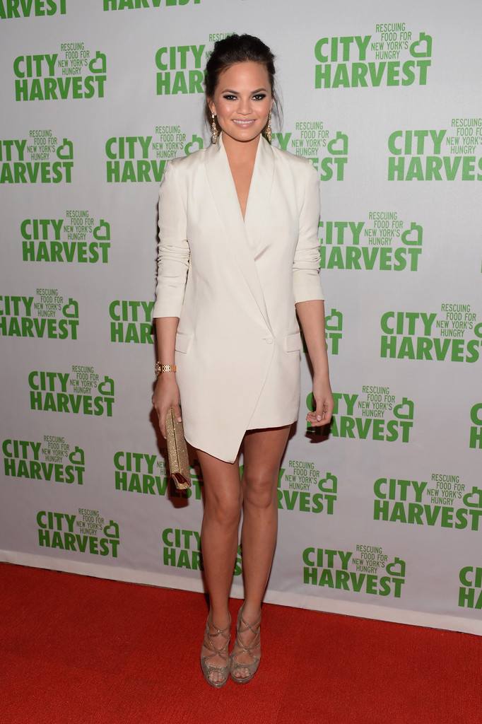 Model Christine Teigen attends the City Harvest 19th Annual An Evening Of Practical Magic, Honoring Marc Murphy at Cipriani 42nd Street on April 16, 2013 in New York City.