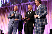 (L-R)  Geoffrey Zakarian, Eric Ripert and Nicholas D. Lowry speak onstage during City Harvest's 22nd Annual an Evening of Practical Magic on April 12, 2016 in New York City.