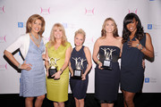 (L-R)  T.V. personality Hoda Kotb, honorees Kathie Lee Gifford, Kristin Chenoweth, and Heather Thomson, and singer Kelly Rowland attend the City of Hope-East End Chapter 2010 Spirit of Life Award luncheon at Waldorf Astoria - Grand Ballroom on April 26, 2010 in New York City.