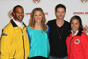 KaDee Strickland, Jason Behr and City Year Los Angeles AmeriCorps members attend the City Year Los Angeles' Spring Break: Destination Education at Sony Pictures Studios on April 20, 2013 in Culver City, California.