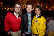Actor Benjamin Stockham poses with City Year AmeriCorps members at City Year Los Angeles Spring Break at Sony Studios on April 25, 2015 in Los Angeles, California.