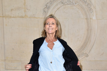 Claire Chazal Christian Dior : Photocall - Paris Fashion Week Womenswear Spring/Summer 2017