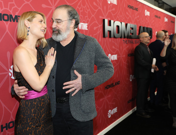 """""""Homeland"""" Season 8 Premiere [season,homeland,red,premiere,event,flooring,carpet,advertising,performance,claire danes,mandy patinkin,new york city,museum of modern art,premiere,mandy patinkin,claire danes,homeland,homeland season 8,photography,showtime,actor,celebrity,writers guild theater]"""