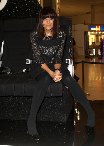 Claudia winkleman upskirt from being