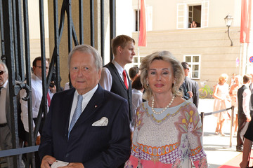 Claudia Huebner Arrivals at the Salzburg Festival Opening