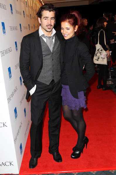 Claudine Farrell (UK TABLOID NEWSPAPERS OUT) Colin Farrell and Claudine Farrell attend a drinks reception before the UK premiere of The Way Back held at The Washington Hotel on December 8, 2010 in London, England.