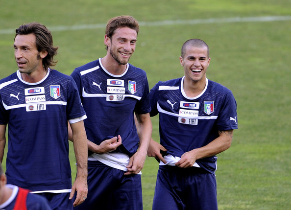 Claudio Marchisio - Italy Training Session & Press Conference in Parma