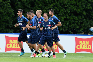 Claudio Marchisio Italy Training Session and Press Conference