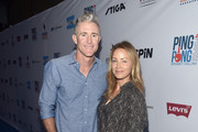 Chase Utley and Jennifer Utley arrive at Clayton Kershaw's 6th Annual Ping Pong 4 Purpose on August 23, 2018 in Los Angeles, California.