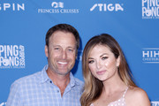 (L-R) Chris Harrison and Lauren Zima attend Clayton Kershaw's 7th Annual Ping Pong 4 Purpose at Dodger Stadium on August 08, 2019 in Los Angeles, California.