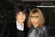 (UK TABLOID NEWSPAPERS OUT) Ronnie Wood and his new girlfriend Ana Araujo attend the press night of Cleopatra: Northern Ballet at Sadlers Wells on May 17, 2011 in London, England.