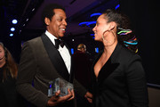 Honoree Jay-Z (L), recipient of the President's Merit Award, with recording artist Alicia Keys during the Clive Davis and Recording Academy Pre-GRAMMY Gala and GRAMMY Salute to Industry Icons Honoring Jay-Z on January 27, 2018 in New York City.