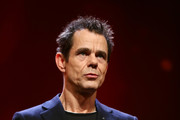 Tom Tykwer is seen on stage at the closing ceremony during the 68th Berlinale International Film Festival Berlin at Berlinale Palast on February 24, 2018 in Berlin, Germany.