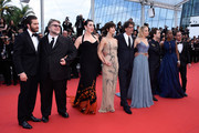 "Official Jury Members Jake Gyllenhaal, Guillermo del Toro, Rossy de Palma, Sophie Marceau, Joel Coen, Sienna Miller, Xavier Dolan, Rokia Traore and Ethan Coen attend the closing ceremony and Premiere of ""La Glace Et Le Ciel"" (""Ice And The Sky"") during the 68th annual Cannes Film Festival on May 24, 2015 in Cannes, France."