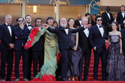 "Tony Grisoni, Oscar Jaenada, Bruno Sevilla, Jordi Molla, Rossy de Palma, Mariela Besuievsky, Terry Gilliam, Stellan Skarsgard, Olga Kurylenko, Adam Driver, and Joana Ribeiro attends the screening of Closing Ceremony & ""The Man Who Killed Don Quixote"" during the 71st annual Cannes Film Festival at Palais des Festivals on May 19, 2018 in Cannes, France."