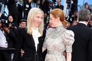 """Jessica Hausner and Emily Beecham attend the closing ceremony screening of """"The Specials"""" during the 72nd annual Cannes Film Festival on May 25, 2019 in Cannes, France."""
