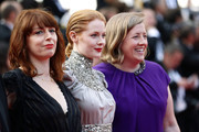 """(L-R) Géraldine Bajard, Emily Beecham, and Gerardine O'Flynn attend the closing ceremony screening of """"The Specials"""" during the 72nd annual Cannes Film Festival on May 25, 2019 in Cannes, France."""