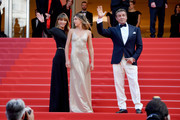 """Jennifer Flavin, Sistine Rose Stallone and Sylvester Stallone attend the closing ceremony screening of """"The Specials"""" during the 72nd annual Cannes Film Festival on May 25, 2019 in Cannes, France."""