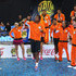 Rohan Bopanna Photos - Fabrice Santoro,Ana Ivanovic,Gael Monfils,Sania Mirza,Rohan Bopanna and Cedric Pioline of the Indian Aces dance after becoming winners of the first IPTL  Tour during the Coca-Cola International Premier Tennis League fourth leg at the Hamdan Sports Complex, December 13, 2014 in Dubai. - Coca-Cola International Premier Tennis League - United Arab Emirates: Day Three