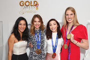 "(L-R) Michelle Kwan, Cassie Sharpe, Meryl Davis and Missy Franklin attend The 6th Annual ""Gold Meets Golden"" Brunch, hosted by Nicole Kidman and Nadia Comaneci and presented by Coca-Cola at The House on Sunset on January 5, 2019 in West Hollywood, California."