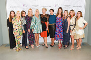Price Arana, Lili Bosse, Angella Nazarian, Laura Schwab, Candace Bushnell, Shelley Reid, Giselle Fernández, Thea Andrew, Nadine Watt, Karen Murphy O'Brien and Nina Kotick attend cocktails and conversation with Candace Bushnell: Is There Still Sex In The City? on October 02, 2019 in Los Angeles, California.