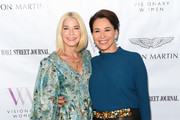 Candace Bushnell and Giselle Fernández attend cocktails and conversation with Candace Bushnell: Is The Sex In The City? on October 02, 2019 in Los Angeles, California.