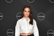 "Ashley Graham attends Cocktails and a Conversation with the Stars of Lifetime's ""American Beauty Star"" featuring host and executive producer Ashley Graham, mentor Sir John and judges Christie Brinkley and Leah Wyar on January 17, 2019 in New York City."