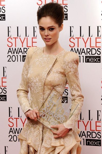 Coco Rocha Coco Rocha poses with the award for Best Model at the 2011 ELLE Style Awards at the Grand Connaught Rooms on February 14, 2011 in London, England.