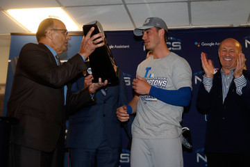 Cody Bellinger League Championship Series - Los Angeles Dodgers v Milwaukee Brewers - Game Seven