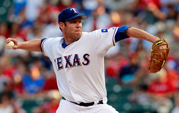 Colby Lewis Colby Lewis #48 of the Texas Rangers pitches against the Detroit Tigers at Rangers Ballpark in Arlington on June 6, 2011 in Arlington, Texas.