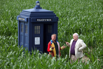 Colin Baker York Honors 'Doctor Who' with a Giant Dalek Maize Maze