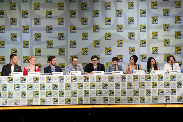 """ABC's """"Once Upon A Time"""" Panel - Comic-Con International 2014 [once upon a time,team,event,edward kitsis,adam horowitz,writer,actors,actors,josh dallas,l-r,abc,comic-con international]"""