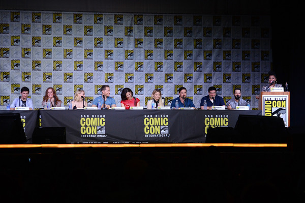 Comic-Con International 2016 - 'Once Upon A Time' Panel [once upon a time,news conference,event,stage equipment,convention,crowd,yvette nicole brown,actors,writer/producers,jared gilmore,rebecca mader,l-r,san diego convention center,panel,comic-con international]