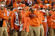 Head coach Dabo Swinney of the Clemson Tigers celebrates his teams 44-16 win over the Alabama Crimson Tide in the CFP National Championship presented by AT&T at Levi's Stadium on January 7, 2019 in Santa Clara, California.