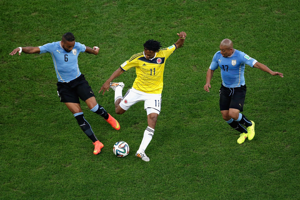 Fotos | Colombia vs Uruguay , Octavos de Final.