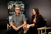 """TV Personality Camille Ford (R) and director Jeff Renfroe attend """"The Colony"""" at The Movies On Demand Lounge during Comic-Con International 2013 at Hard Rock Hotel San Diego on July 19, 2013 in San Diego, California."""