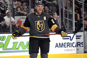 Paul Stastny #26 of the Vegas Golden Knights stands on the ice during a stop in play in the second period of a preseason game at T-Mobile Arena on September 24, 2018 in Las Vegas, Nevada.
